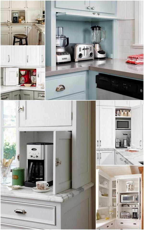 The ideal kitchen appliance storage live simply by annie - Kitchen appliance storage cabinet ...