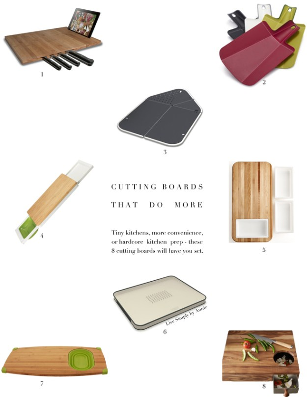 I need one of these! --> 8 Cutting Boards That Do More
