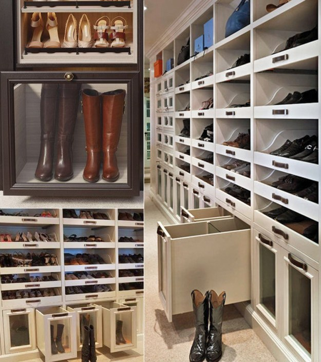 One day I will have these boot drawers in my closet. The ideal.