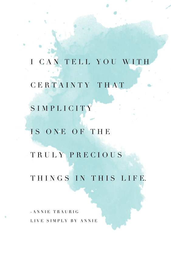 A sentiment worth sharing: simplicity is truly precious. Please pass this on.