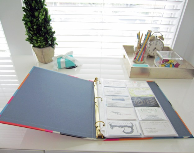 Diy business card organizer live simply by annie finally getting my business cards in order after seeing how easy it is cute binder colourmoves Choice Image