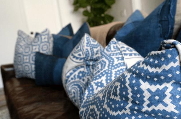 gorgeous blue cushions by Leo Parrella