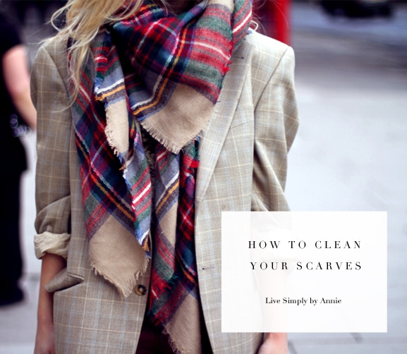 How to clean your scarves! Pin this and do it!