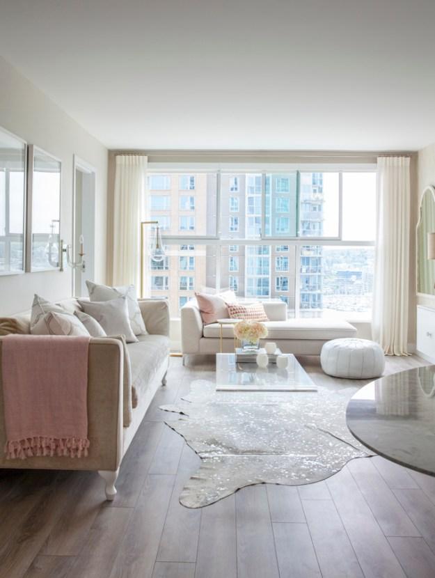 Gorgeous condo living room design from Peridot Decorative Homewear.