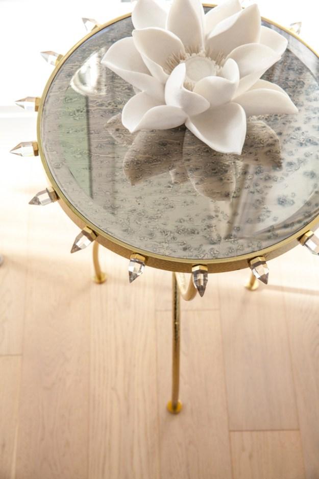 Design magic from Peridot Decorative Homewear: feminine, edgy, sophisticated.