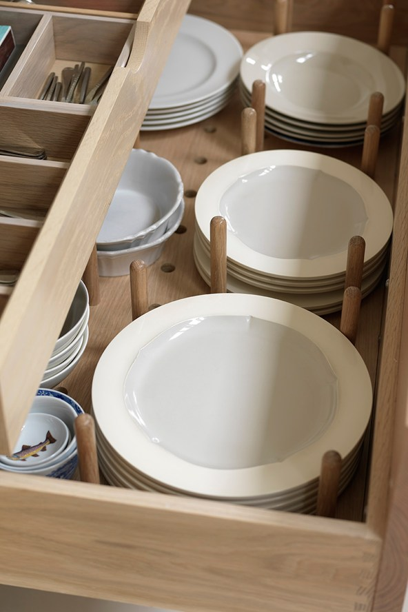 kitchen drawer plate organizers dish storage you ve probably never considered until now 4728