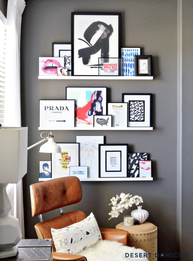 8 ways you've probably never thought to use picture ledges around the house (#3 & 7 especially!)