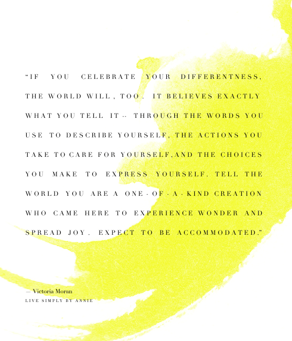 Celebrate your differentness!
