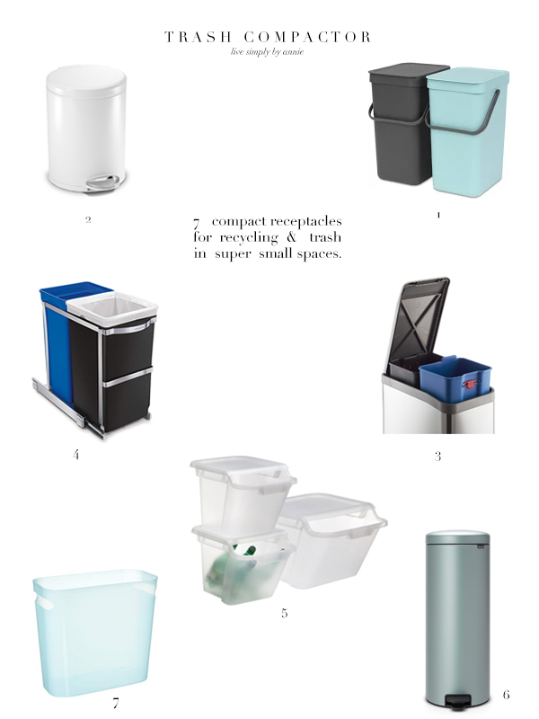 7 Super Compact Recycling & Trash Receptacles For Small Spaces