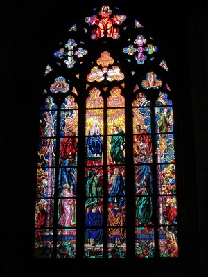 picture of a stained glass window