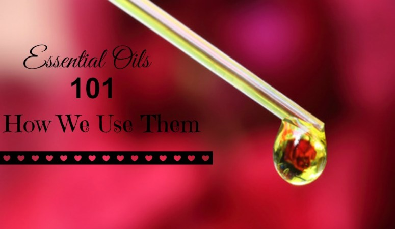 Essential oils dropper with a drop of oil