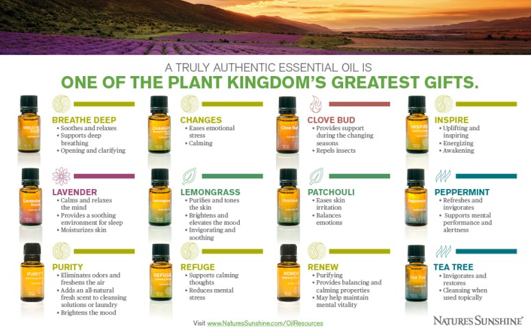 Infographic pn essential oils