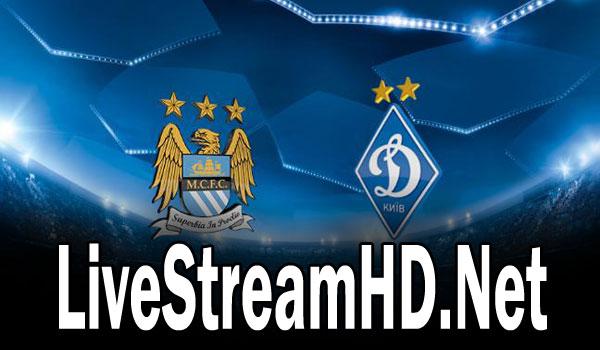 Manchester City Vs Dynamo Kyiv Live Stream