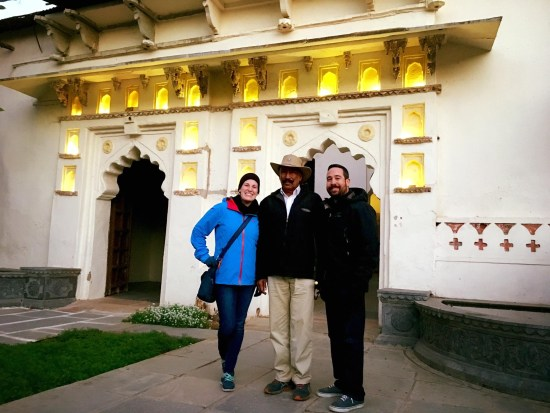 Picture with the owner of Bijaipur Castle which has been in his family for over 250 years.