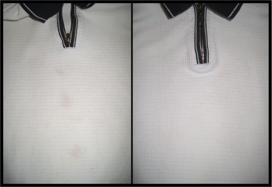 Stained Shirt Before and After - livethereallife.com