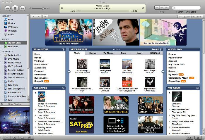 Sreenshot d'iTunes