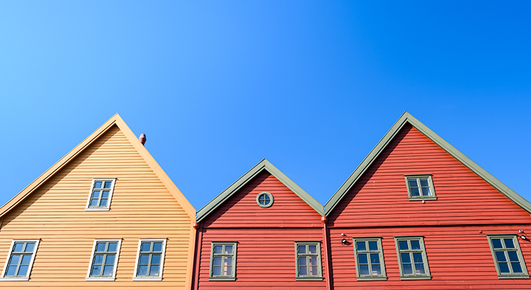 Traditional old timber houses in Bryggen, Bergen, Norway