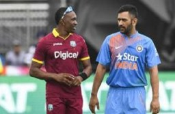 Dhoni and Dwayne Bravo