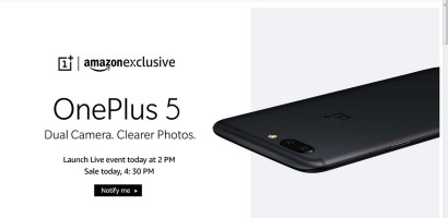 OnePlus 5 Launched in India-Price, Specifications & More