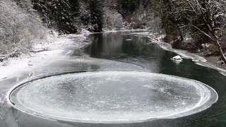 «Μυστηριώδης» κύκλος από πάγο (Βίντεο)