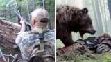 Αρκούδα το παίζει νεκρή και μετά επιτίθεται στον κυνηγό που της επιτέθηκε