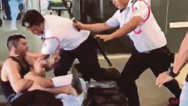 Δείτε τη στιγμή που security guard τα βάζει με παλεστή του MMA και γίνεται viral αμέσως
