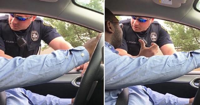 Ένας άντρας καθώς οδηγούσε μαζί με τη γυναίκα του η αστυνομία του έκανε νόημα να σταματήσει. Όταν έμαθε το λόγο χαμογέλασαν και τα αυτιά του