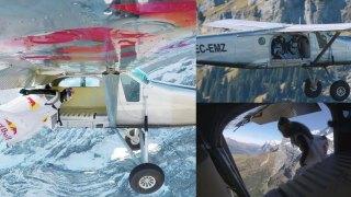 Μπήκαν σε αεροπλάνο καθώς πετούσε πάνω από τις Ελβετικές Άλπεις
