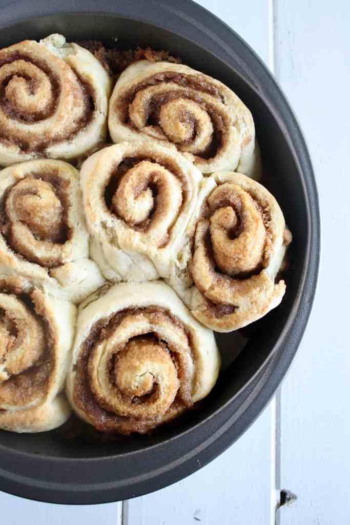 One Hour Cinnamon Rolls {no yeast!}