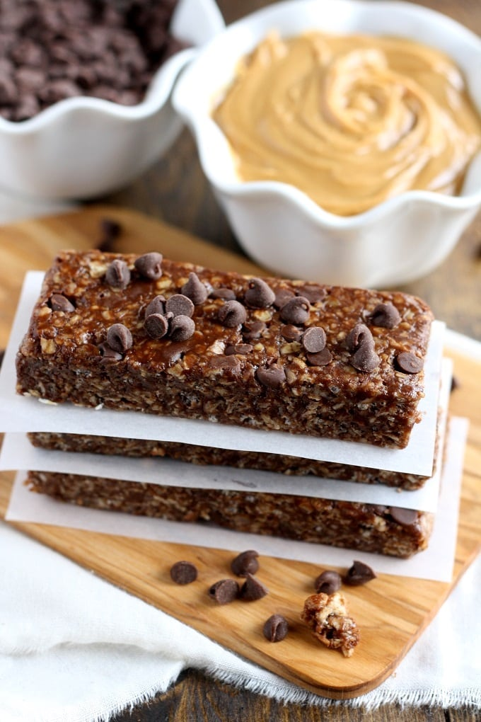 No-Bake Chocolate Peanut Butter Granola Bars