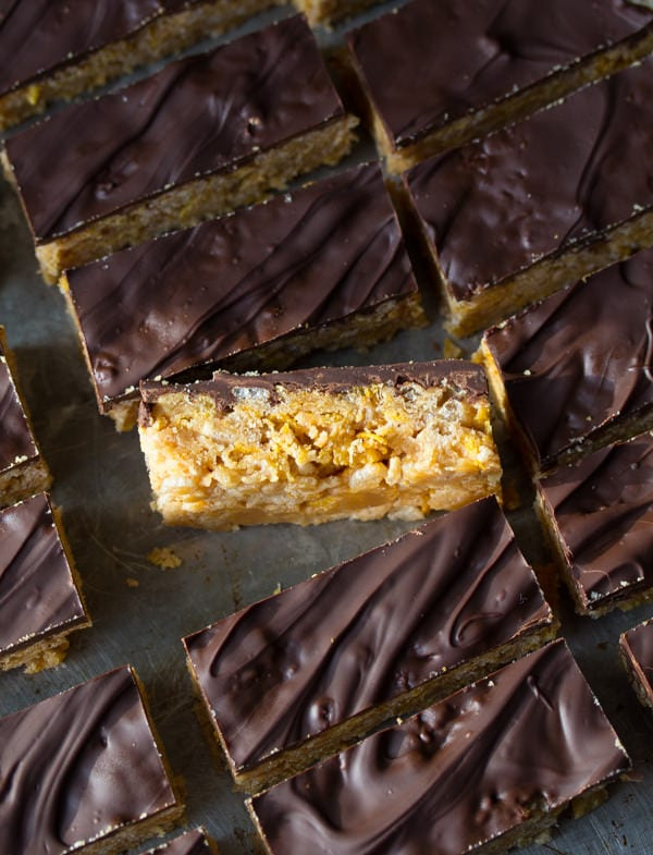 No-Bake Peanut Butter Crunch Cereal Bars