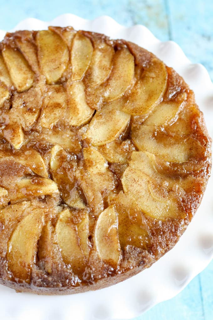 apple upside down cake caramel apple cake 1351