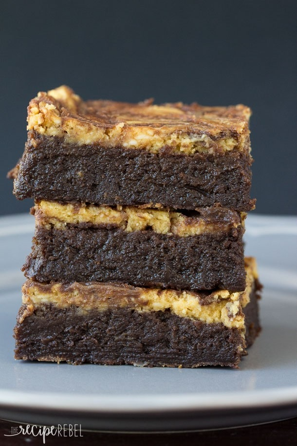 Flourless Pumpkin Cheesecake Brownies