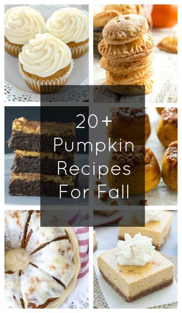 20+ Pumpkin Recipes for Fall