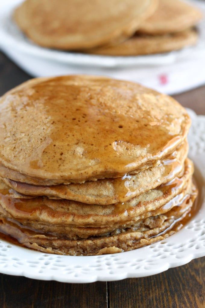 These Gingerbread Pancakes are easy to whip up and perfect for breakfast during the holiday season.