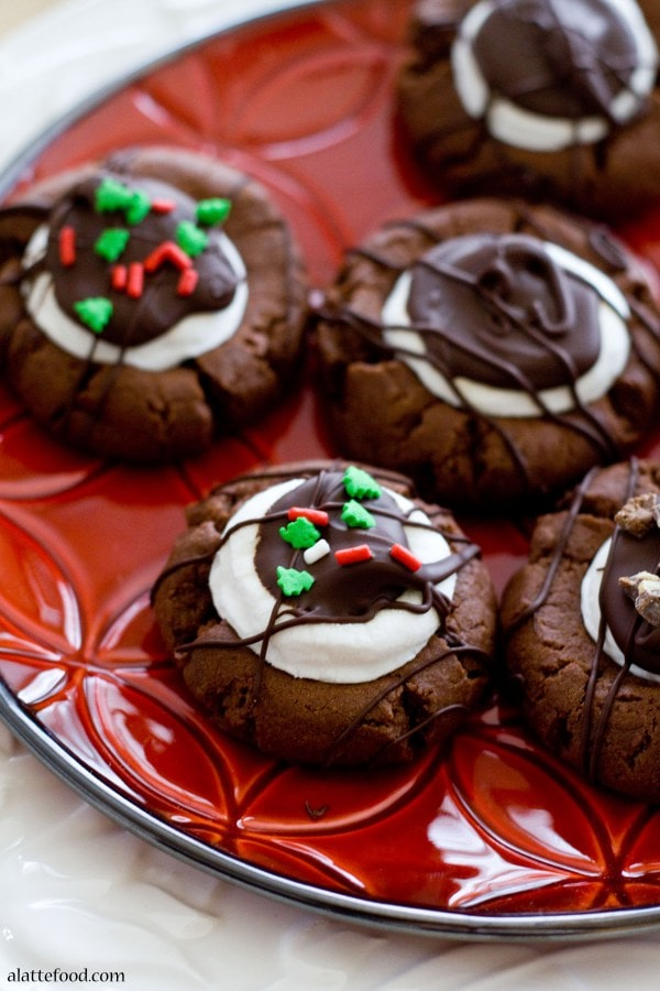 Hot Chocolate Thumbprint Cookies