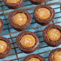 Salted Caramel Brownie Bites