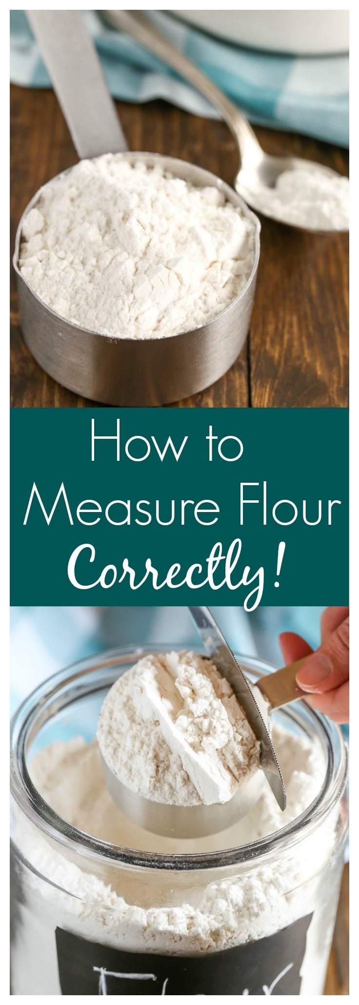 Learn how to measure flour with the spoon and level method.