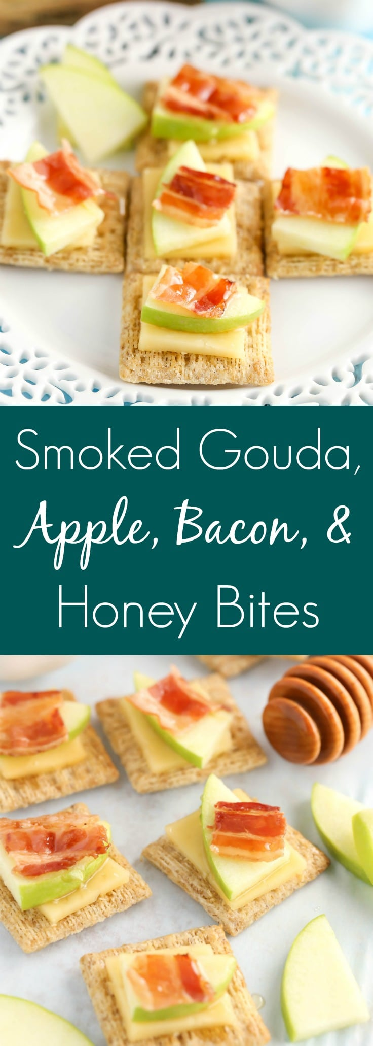 These Smoked Gouda, Apple, Bacon, and Honey Bites are a delicious andeasy appetizer!