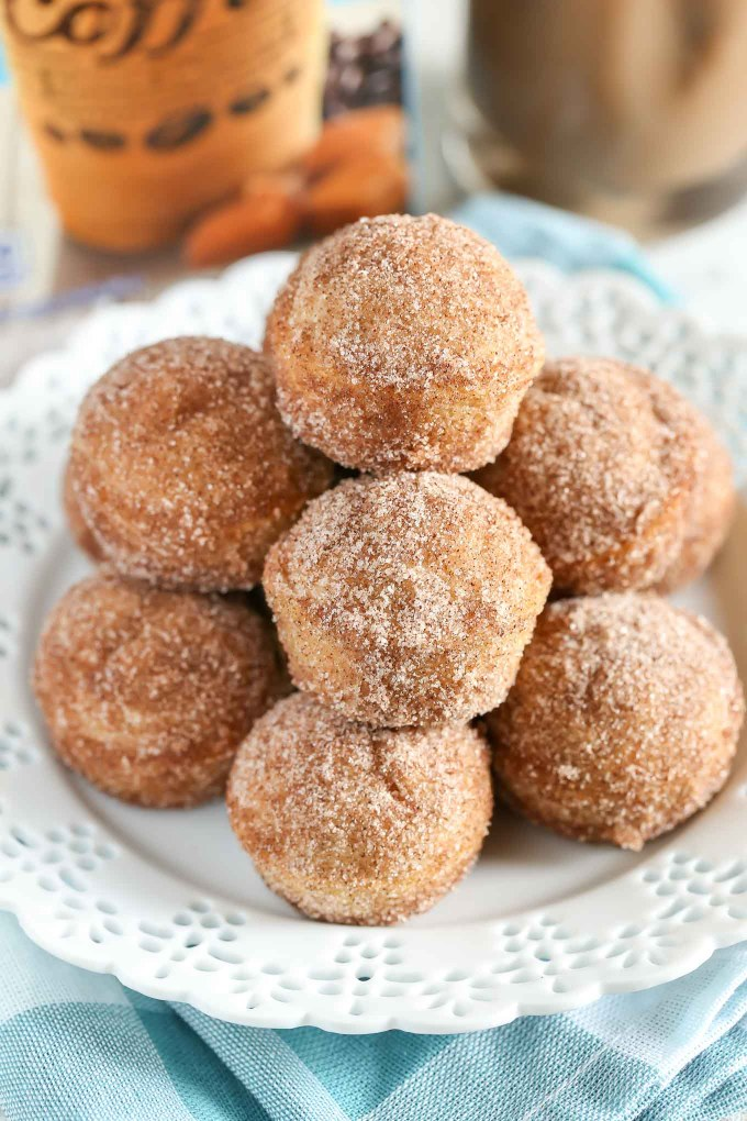 These Baked Cinnamon Sugar Donut Holes are easy to make and perfect for breakfast!