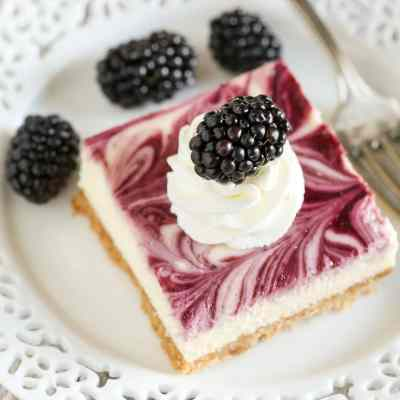 Blackberry Swirl Cheesecake Bars