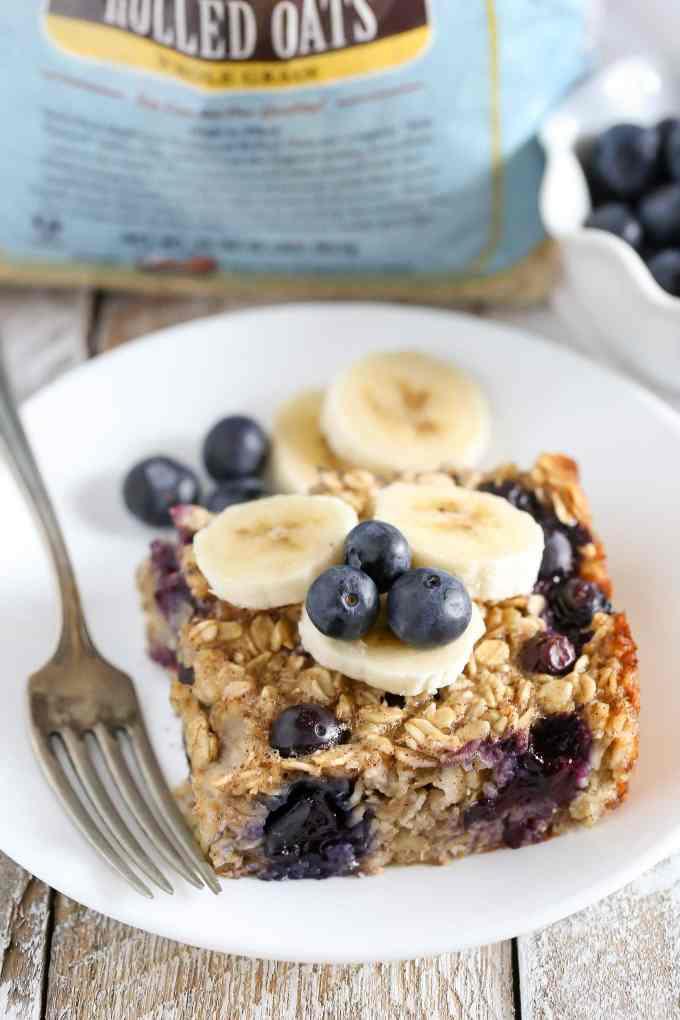 Blueberry Banana Baked Oatmeal Live Well Bake Often