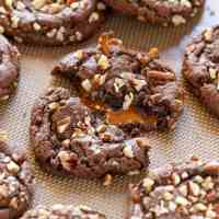 Chocolate Turtle Cookies