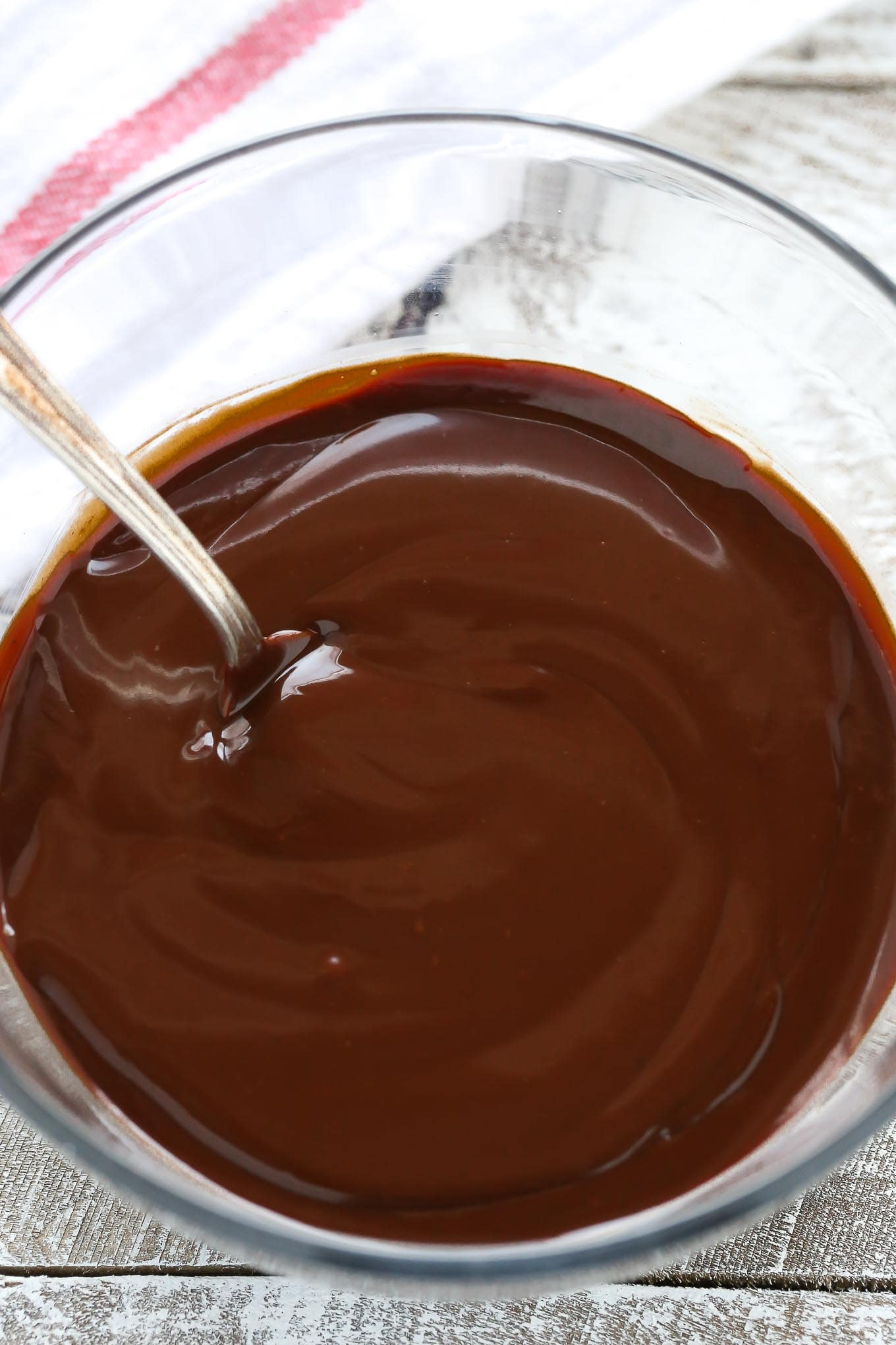 Learn how to make chocolate ganache with this easy tutorial. You only need chocolate, heavy whipping cream, a microwave, and 5 minutes to make this simple ganache recipe!