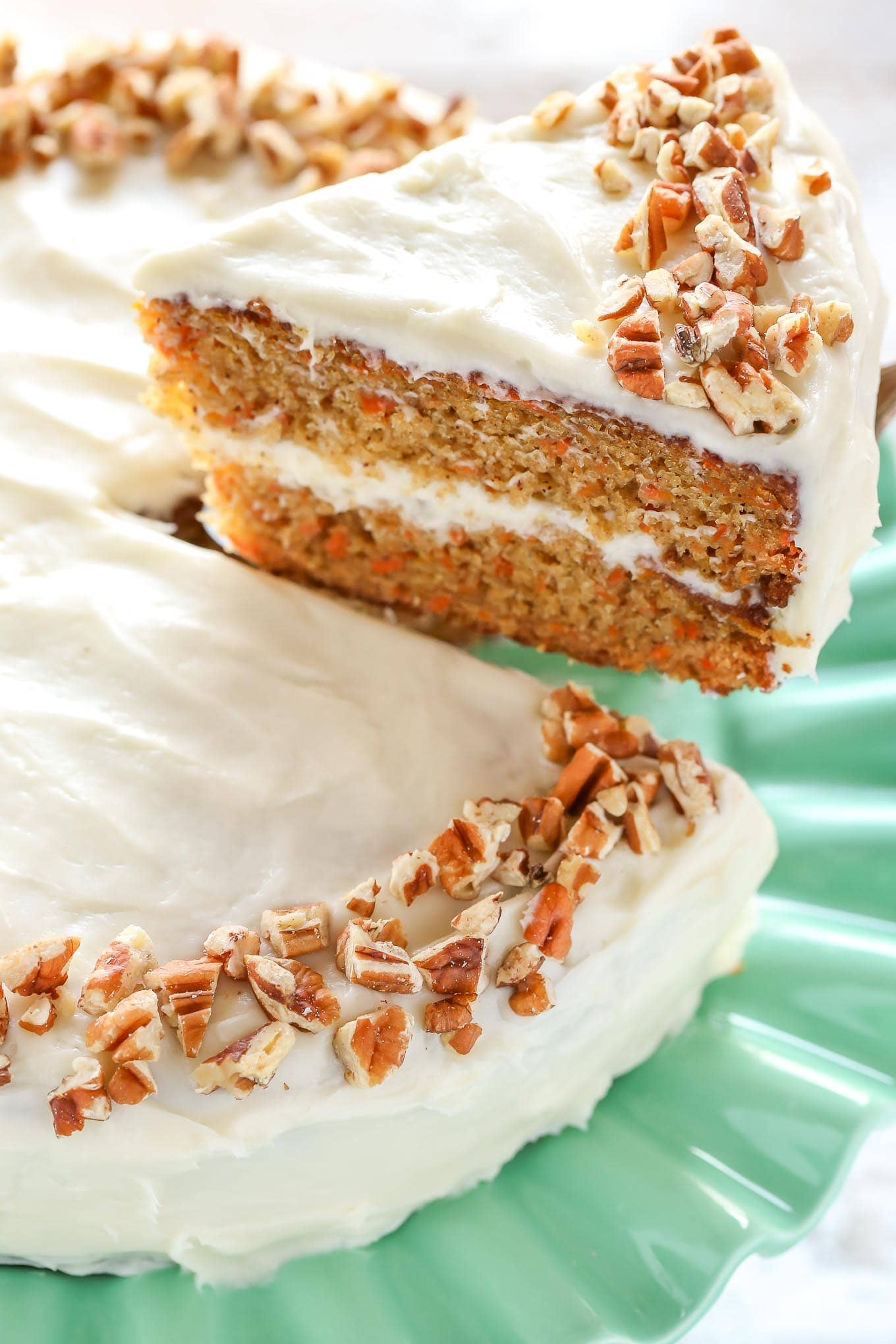 Easy moist carrot cake with cream cheese frosting recipe