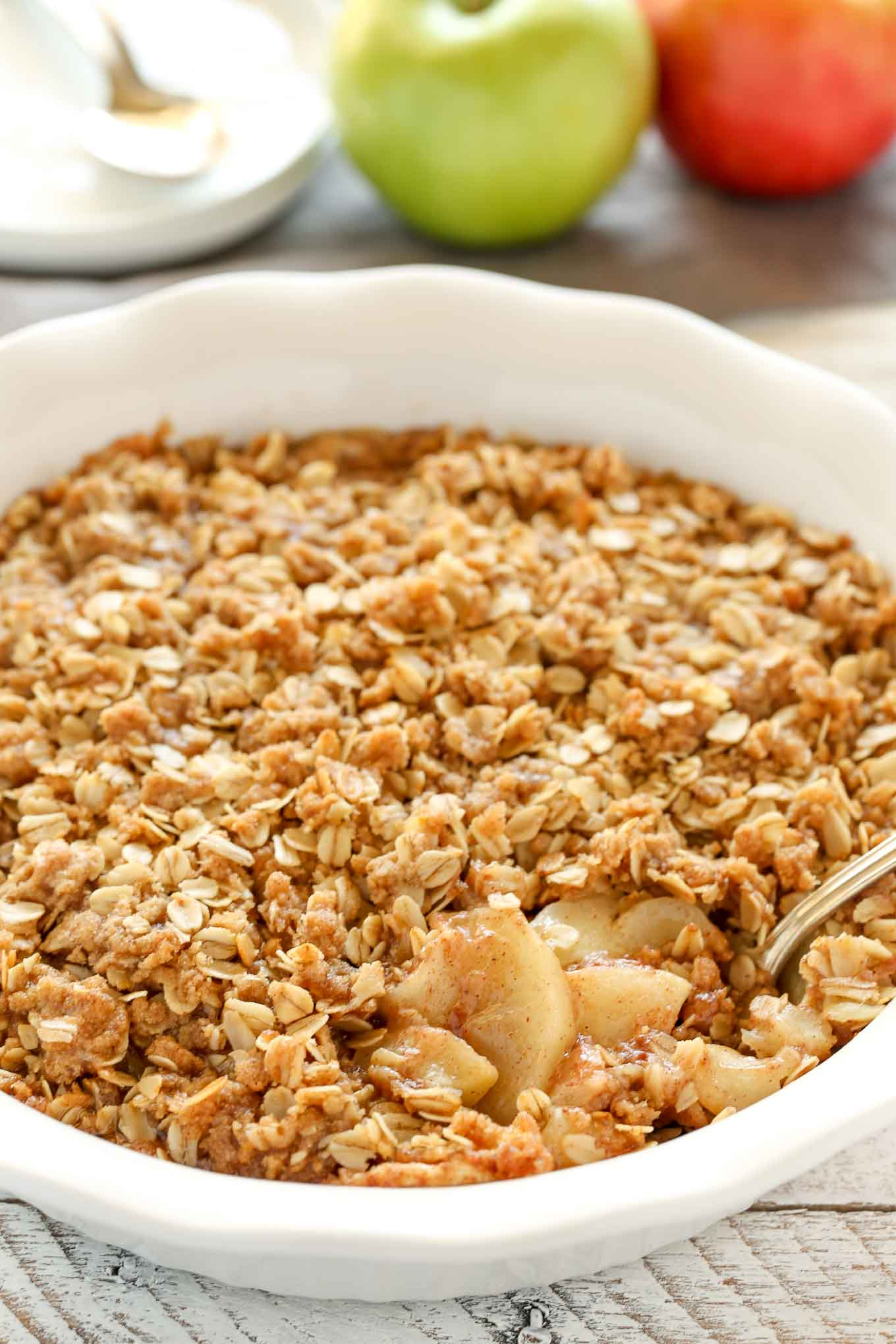 how to make apple crisp topping with oats
