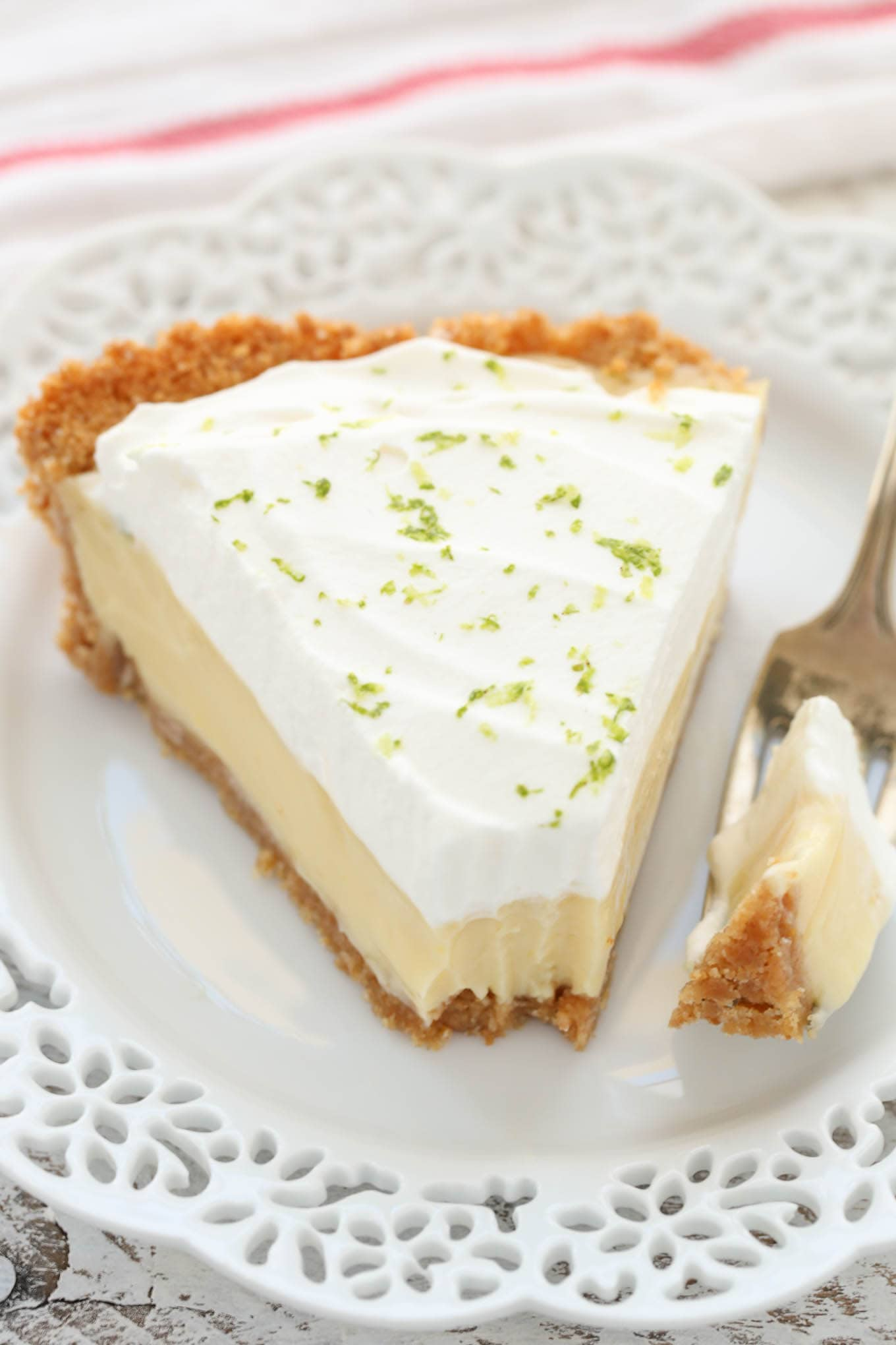 This Classic Key Lime Pie features an easyhomemade graham cracker crust, a smooth and creamy key lime pie filling, and homemade whipped cream on top. The perfect dessert for key lime lovers!