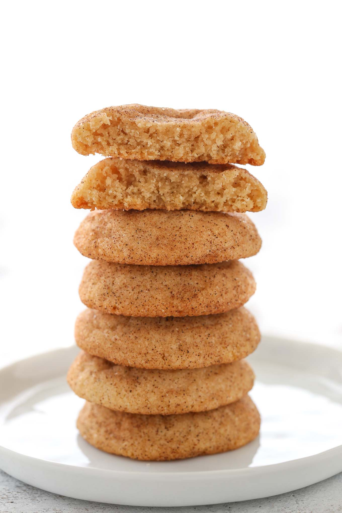 Soft, chewy, buttery cookies coated in cinnamon and sugar. These Snickerdoodles bake up super thick and turn out perfect every single time!