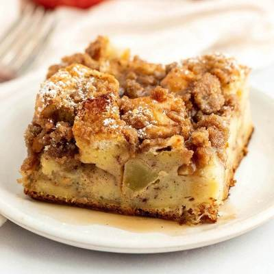 Apple Streusel French Toast Casserole