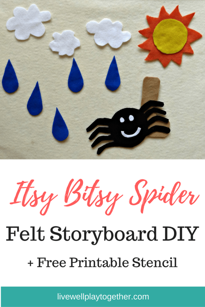 Itsy Bitsy Spider Felt Storyboard DIY + Free Printable Stencil so You Can Make Your Own!